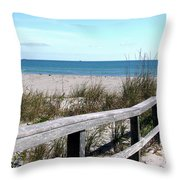 Cocoa Beach In Florida Throw Pillow