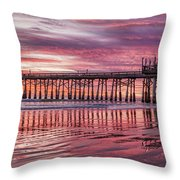 Cocoa Pier Sunrise Throw Pillow