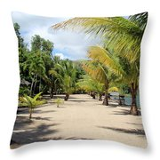 Coconut Beach Throw Pillow