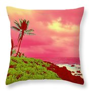 Coconut Palm Makai For Pele Throw Pillow