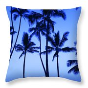 Coconut Palms At Dawn Throw Pillow