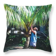 Coconut Shade Throw Pillow