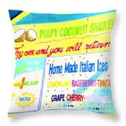 Coconut Shakes Throw Pillow