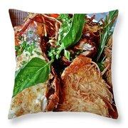 Coconut Shrimp Throw Pillow