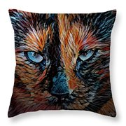 Coconut The Feral Cat Throw Pillow
