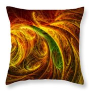 Cocoon Of Glowing Spirits Abstract Throw Pillow