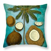 Cocos Nucifera Throw Pillow