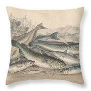 Cod And Halibut Throw Pillow
