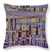 Code Abstract Throw Pillow