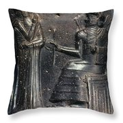 Code Of Hammurabi (detail) Throw Pillow