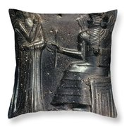 Code Of Hammurabi. Throw Pillow