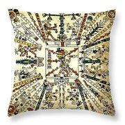 Codex Fej�rv�ry-mayer, 15th Century Throw Pillow