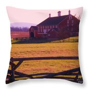 Codori Barn Gettysburg Throw Pillow