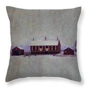 Codori Farm At Gettysburg In The Snow Throw Pillow