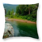Coeur D'alene River Throw Pillow