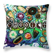 Coexisting With Coffee And Donuts Throw Pillow