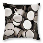 Coffe Cups 2 Throw Pillow