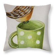 Coffee And A Friend Throw Pillow