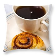 Coffee And Breakfast Roll Throw Pillow