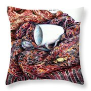 Coffee And Cashmere Throw Pillow