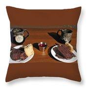 Coffee And Chocolate Cake. Mountain House Inn Throw Pillow