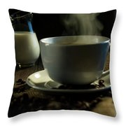 Coffee And Cream Throw Pillow