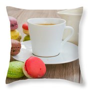 Coffee  And Macaroons Throw Pillow