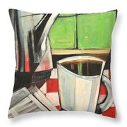 Coffee And Morning News Throw Pillow