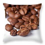 Coffee Beans Throw Pillow by Gert Lavsen