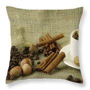 coffee beans Still Life Throw Pillow