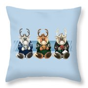 Coffee Bou - The Gang's All Here Throw Pillow