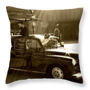 Coffee Cab Throw Pillow