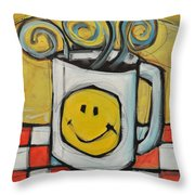 Coffee Cup One Throw Pillow