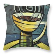 Coffee Cup Three Throw Pillow