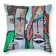 Coffee Date Throw Pillow