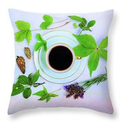 Coffee Delight Throw Pillow