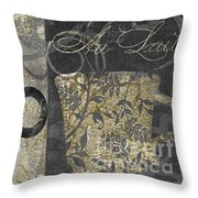 Coffee Flavors Gold And Black Throw Pillow