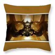 Coffee Glasses-looking-glass Throw Pillow