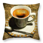 Coffee - Id 16217-152032-0430 Throw Pillow
