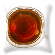 Coffee In Glass Cup From Directly Above Throw Pillow