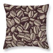 Coffee In Grain Throw Pillow
