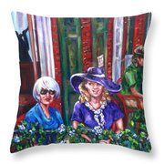 Coffee In Pirates' Alley Throw Pillow