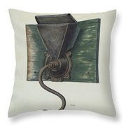 Coffee Mill Throw Pillow