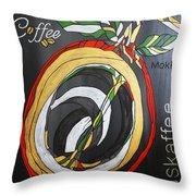 Coffee Mokka Throw Pillow