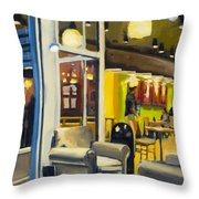 Coffee On 5th Ave Throw Pillow
