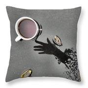Coffee On Black Top Pond No. 5 Throw Pillow
