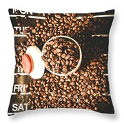 Coffee On The Menu Throw Pillow