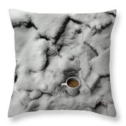 Coffee On The Rocks Throw Pillow