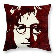 Coffee Painting John Lennon Throw Pillow