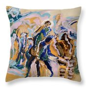 Coffee Papers. Sketch II . Present And Past Moments Throw Pillow